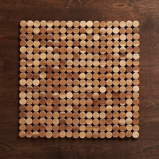 Wood dot placemat crate and barrel for Small square placemats