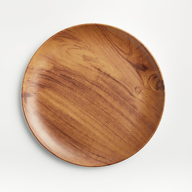 Wood Grain Melamine Dinner Plate - Image 1 of 4