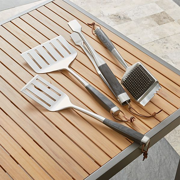 Wood-Handled Grill Tools