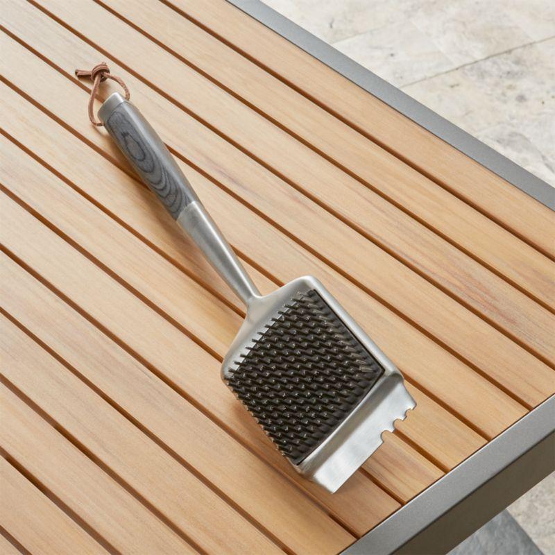 Wood Handled Grill Brush
