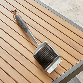 Wood Handled Grill Brush
