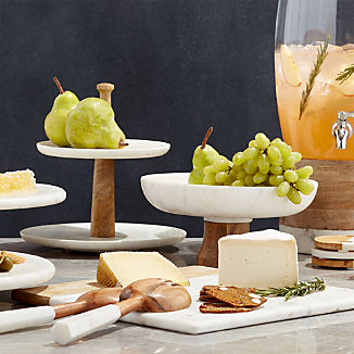 Wood and Marble Serveware