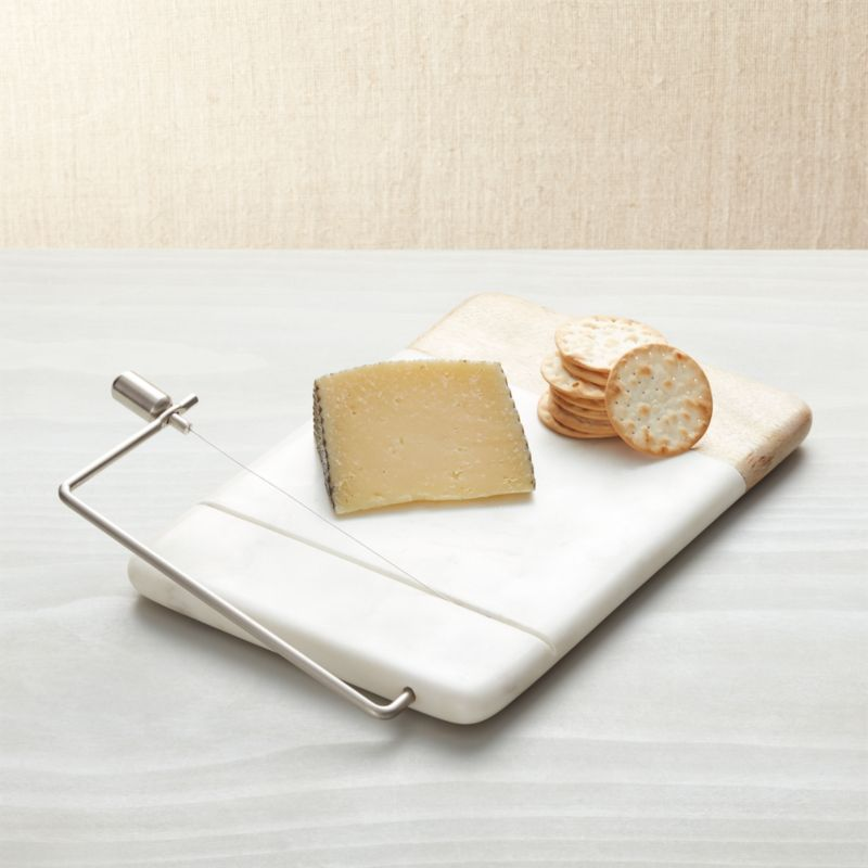 Wood Marble Cheese Slicer & Cheese Boards Knives u0026 Tools | Crate and Barrel