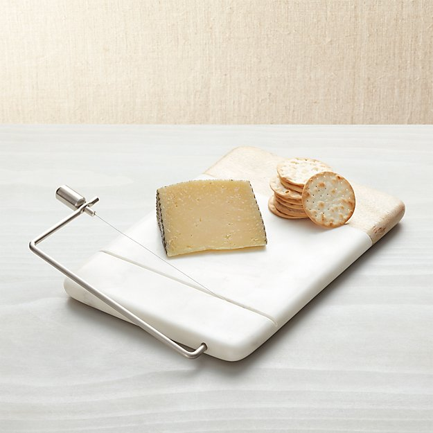 marble cheese board wood marble cheese slicer reviews crate and barrel 11940