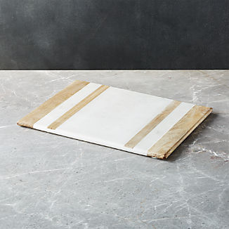 Wood/Marble Inlay Serving Board