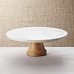 Wood Marble Pedestal