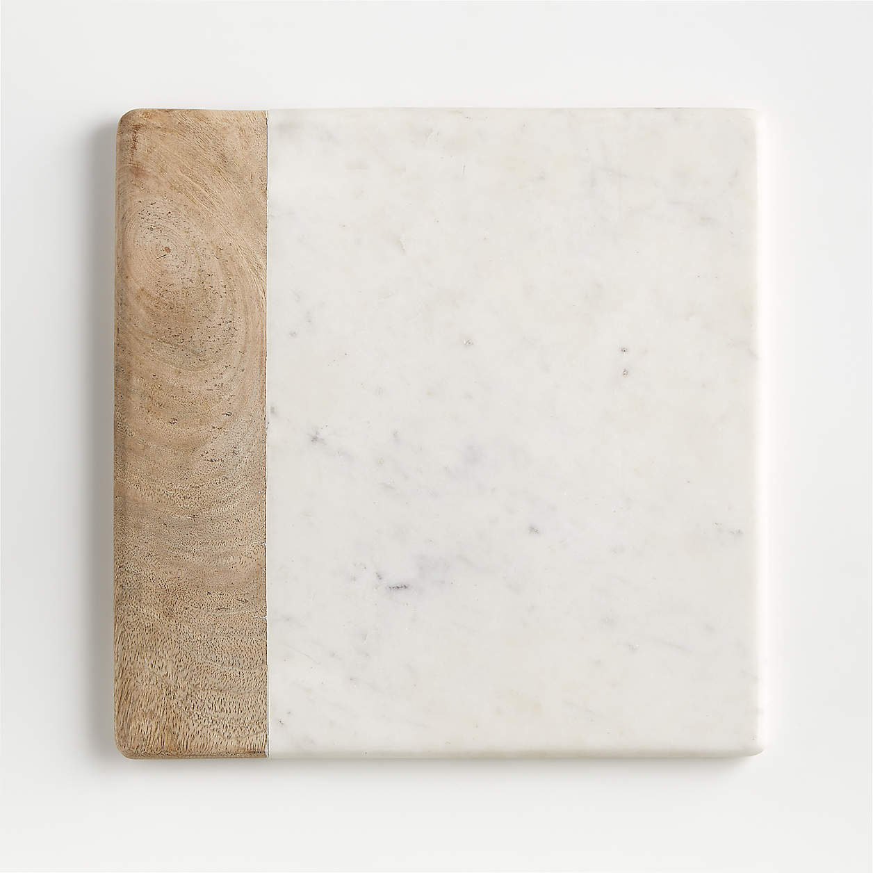 Shop Wood Marble Square Platter from Crate and Barrel on Openhaus