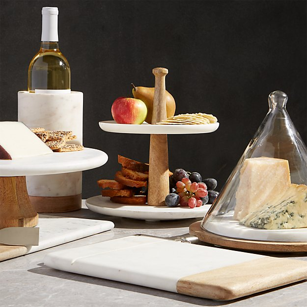 Wood Marble Cheese Slicer Crate And Barrel