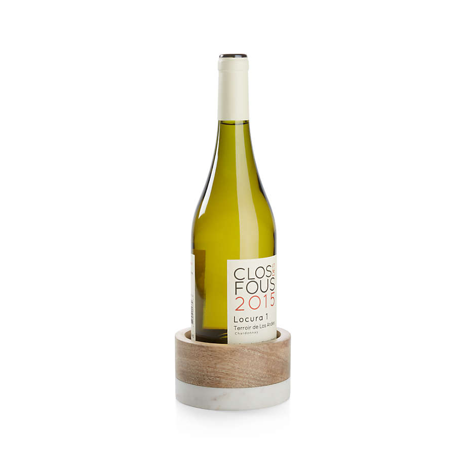 Viewing product image Wood and Marble Wine Coaster