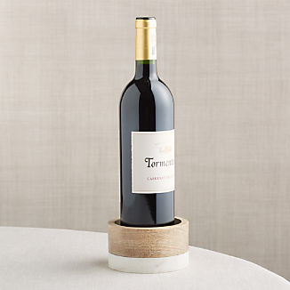 Wood and Marble Wine Coaster