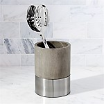 Wood and Stainless Steel Utensil Holder