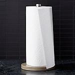 Wood/Stainless Steel Paper Towel Holder