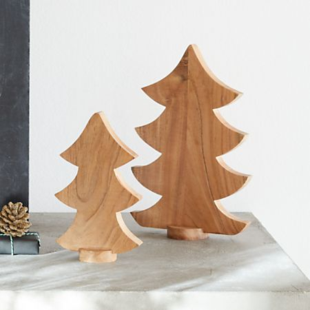 Wooden Tabletop Christmas Trees Crate And Barrel
