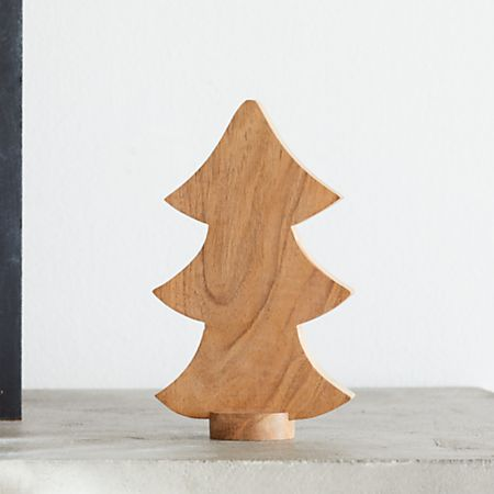 Tabletop Christmas Tree.Small Wooden Tabletop Christmas Tree Crate And Barrel