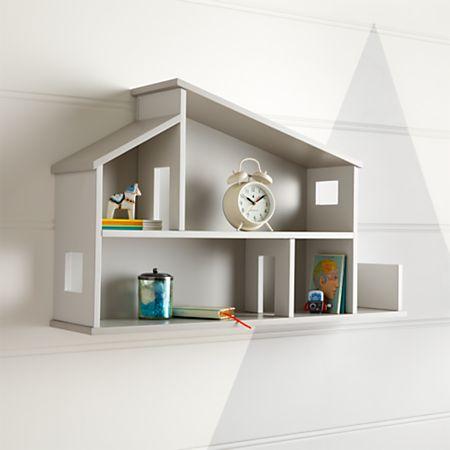 Wooden House Shelf