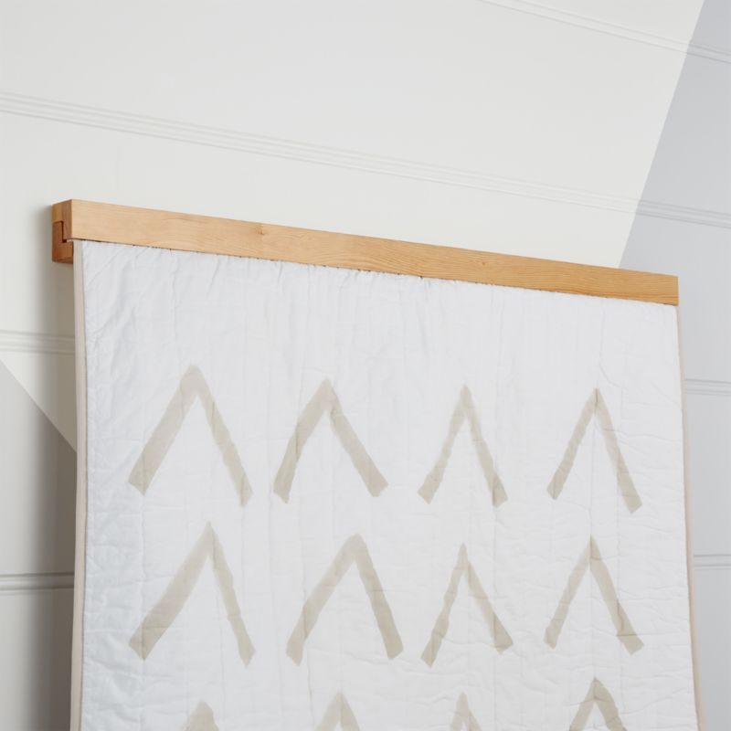 Wooden Quilt Hanger Reviews Crate And Barrel