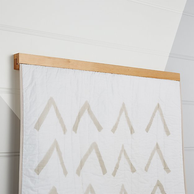 Wooden Quilt Hanger + Reviews | Crate and Barrel