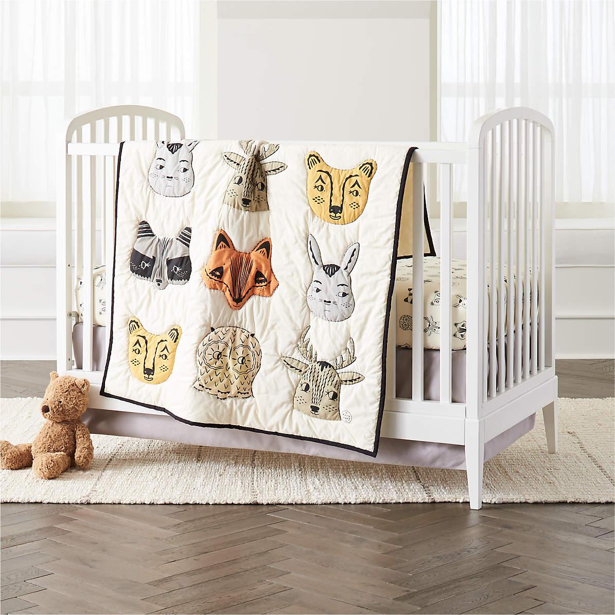 Roxy Marj Woodland Animal Crib Bedding Crate And Barrel