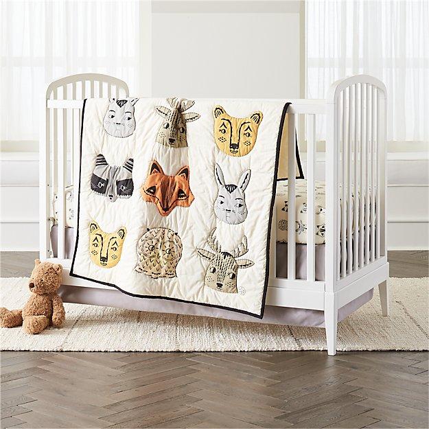 Fabulous Roxy Marj Woodland Animal Crib Bedding | Crate and Barrel XE94
