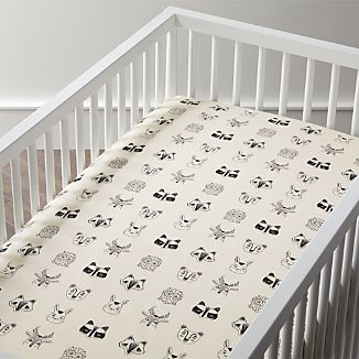Organic Roxy Marj Woodland Animal Crib Ed Sheet