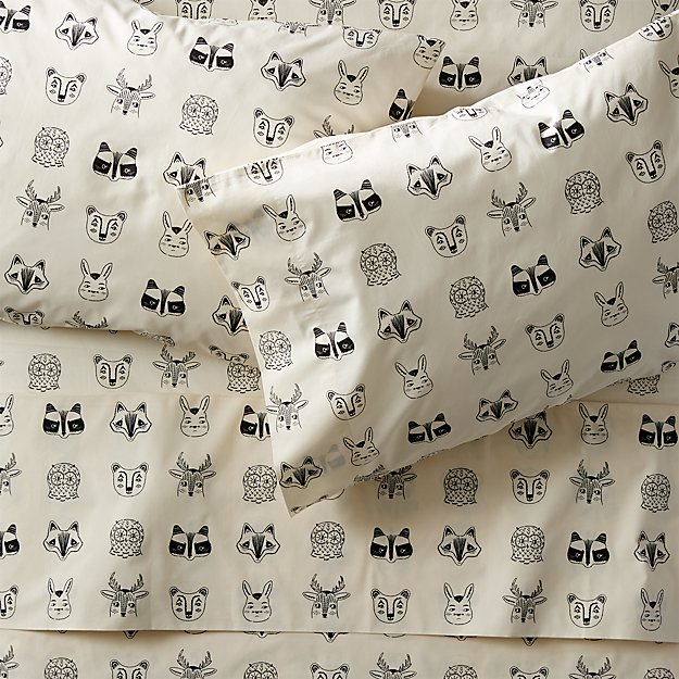 Organic Roxy Marj Woodland Animal Sheet Set - Image 1 of 8