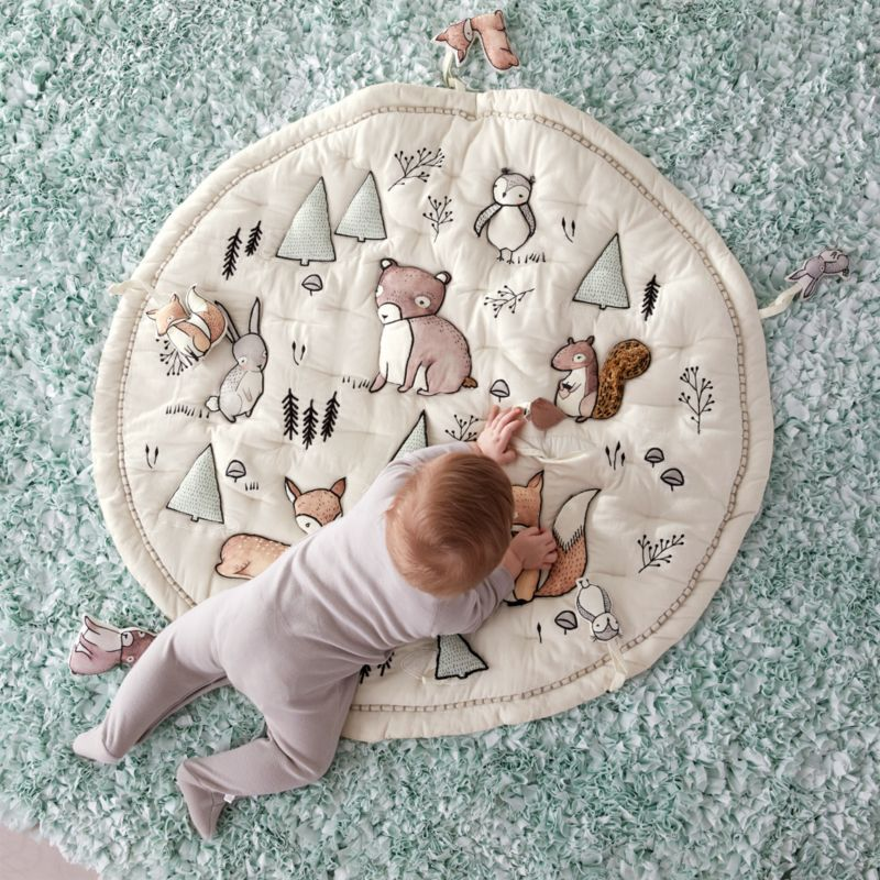 Woodland Animals Baby Activity Mat by Crate&Barrel