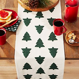 Woodland Trees Embroidered Table Runner