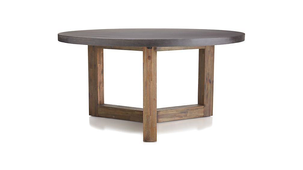 Woodward Round Dining Table with Solid Wood Base