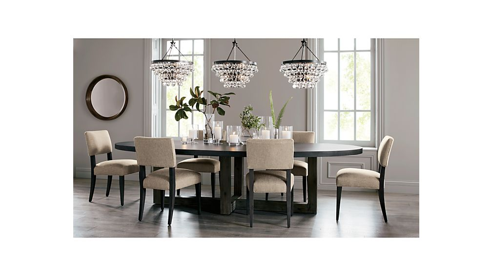 Woodward Oval Dining Table with Solid Wood Base