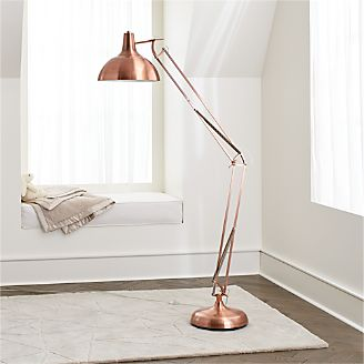 Chic floor lamps to brighten your home crate and barrel large copper floor lamp aloadofball Choice Image