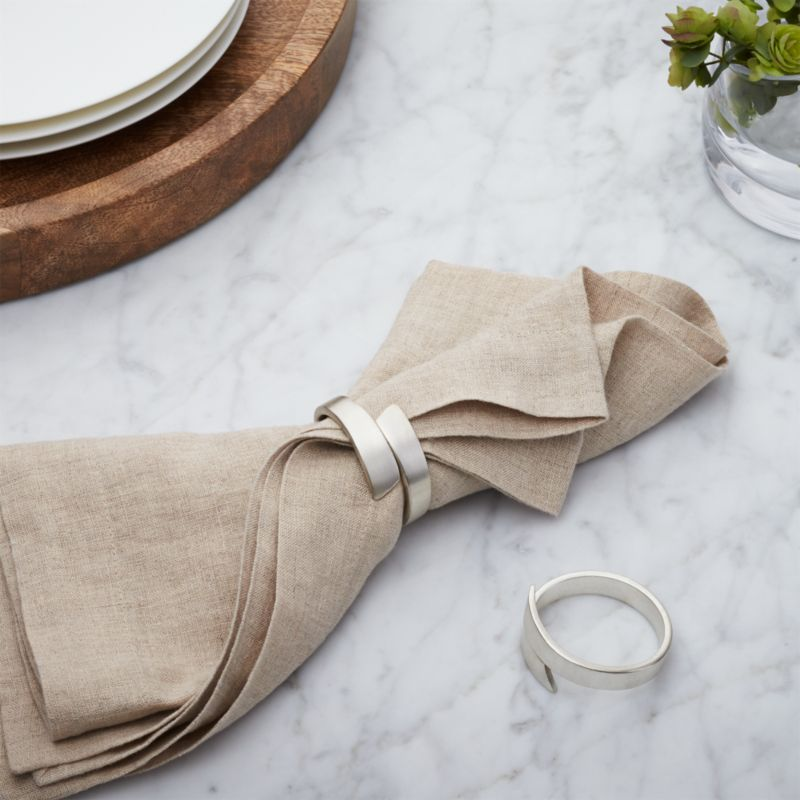 Wrap Silver Napkin Ring Reviews Crate And Barrel