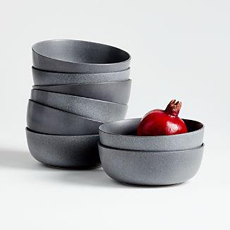 Wren Grey Bowl, Set of 8