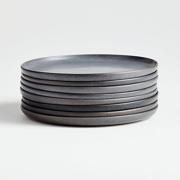 Wren Grey Salad Plates, Set of 8 - Image 1 of 5