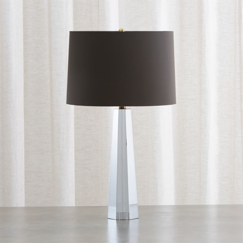 Wren Grey Crystal Table Lamp