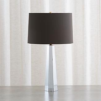 Wren Grey Crystal Table Lamp