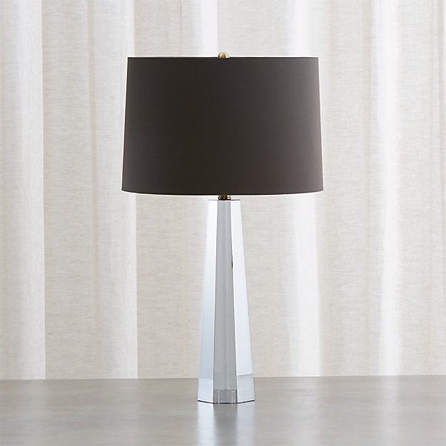 Wren Grey Crystal Table Lamp - Image 1 of 5