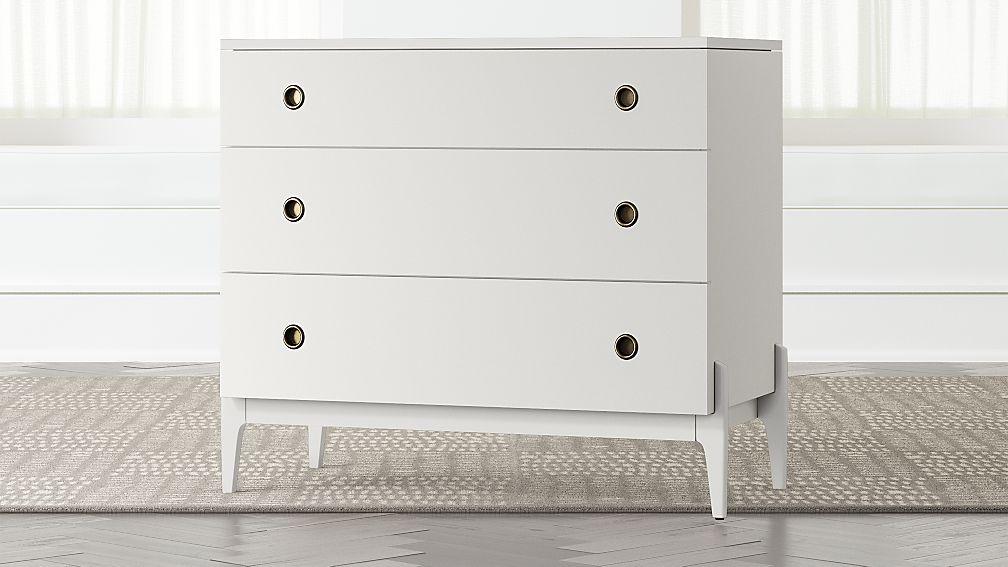 Kids Wrightwood White 3-Drawer Dresser - Image 1 of 4