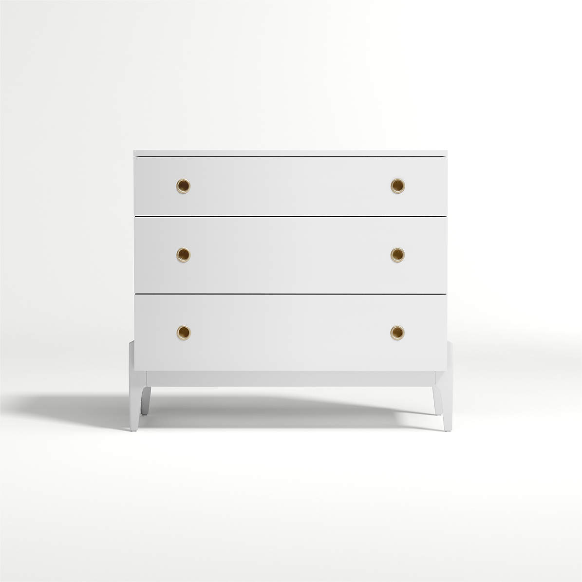 Kids Wrightwood White 3 Drawer Dresser Reviews Crate And Barrel