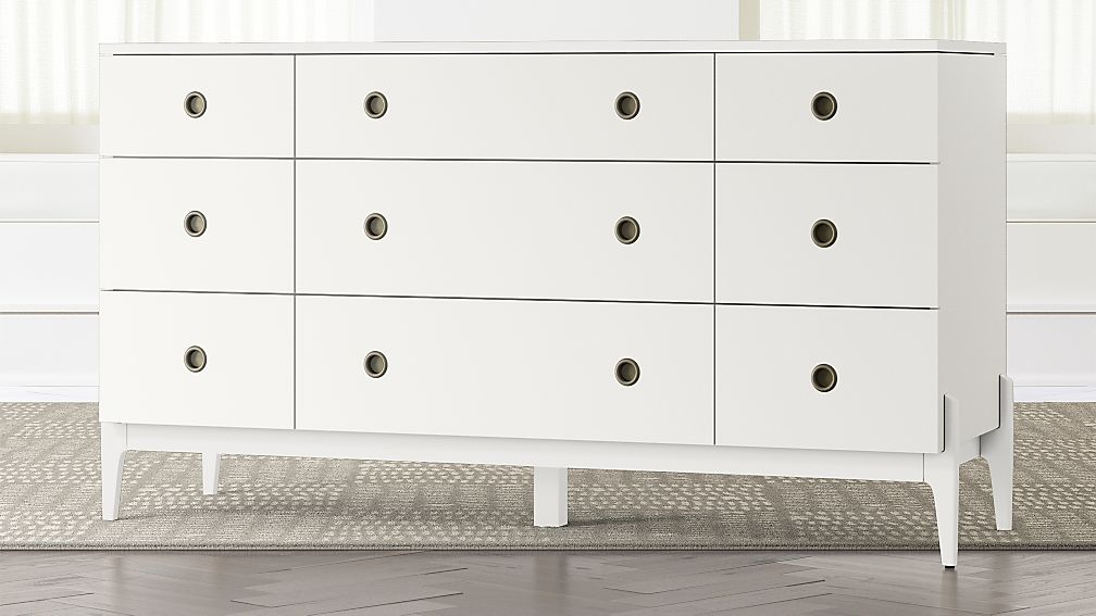 Kids Wrightwood White 9-Drawer Dresser - Image 1 of 3