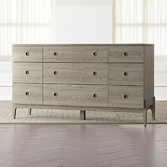 Kids Wrightwood Grey Stain 9 Drawer Dresser