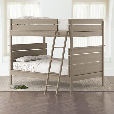 Wrightwood Grey Stain Full Over Convertible Bunk Bed