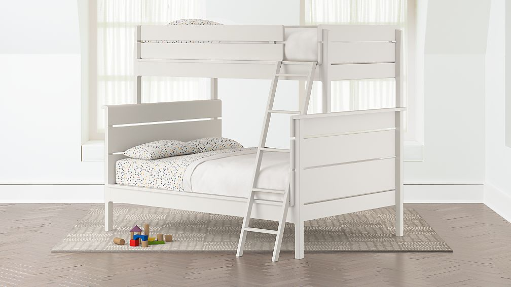 Wrightwood White Twin Over Full Bunk Bed Reviews Crate And Barrel
