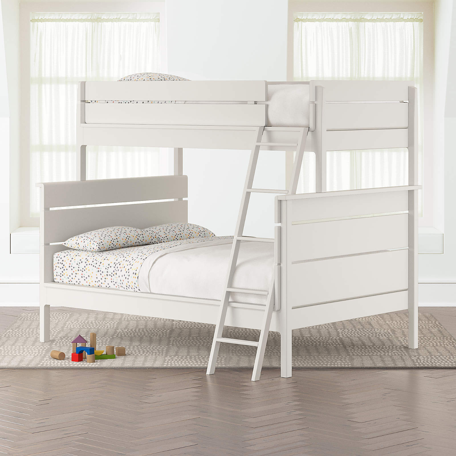 Picture of: Wrightwood White Twin Over Full Bunk Bed Crate And Barrel
