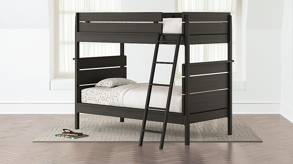 Wrightwood Denim Blue Twin Bunk Bed