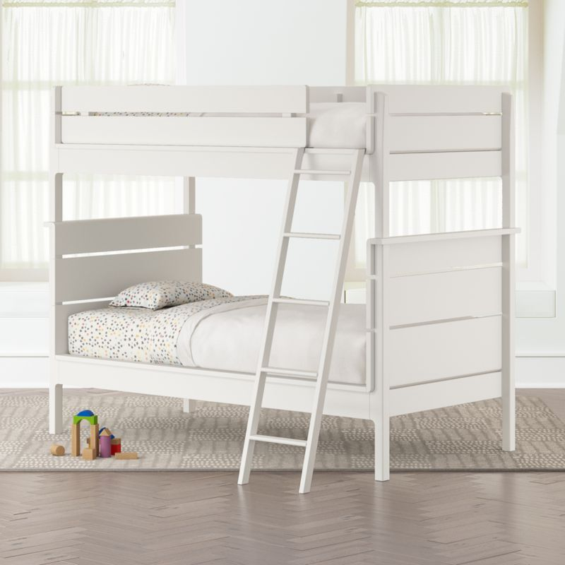 Wrightwood White Twin Over Twin Convertible Bunk Bed