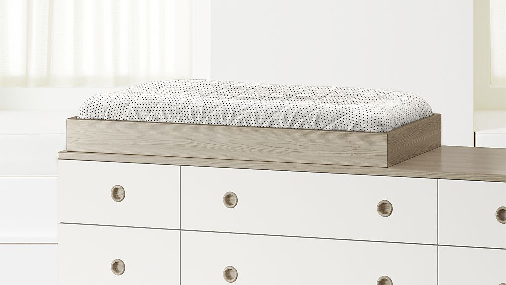 Wrightwood Grey Stain Changing Table Topper Reviews Crate And Barrel