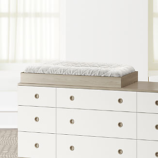 Wrightwood Grey Stain Changing Table Topper