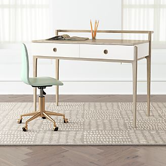Kids White Desk With Drawers Teen Desk And Chair