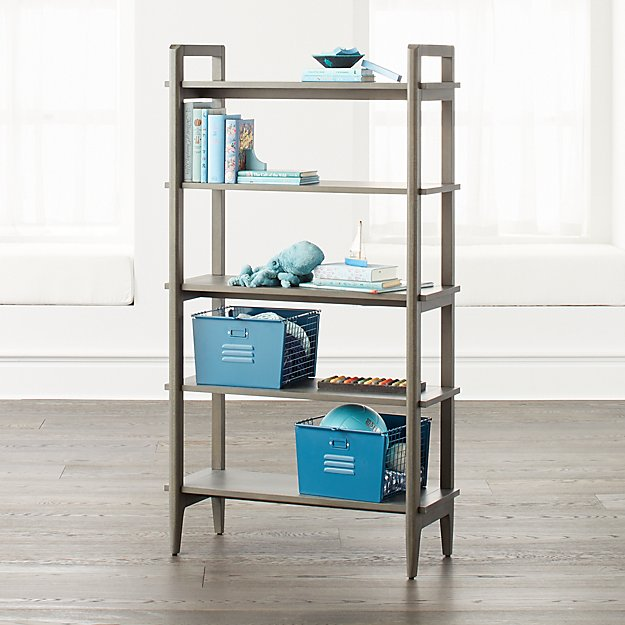 Wrightwood Tall Denim Blue Bookcase - Image 1 of 4