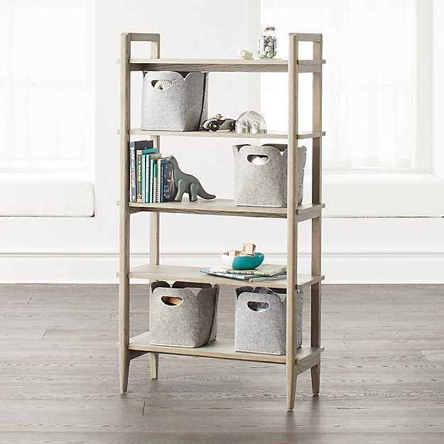 Wrightwood Tall Grey Stain Bookcase - Image 1 of 4